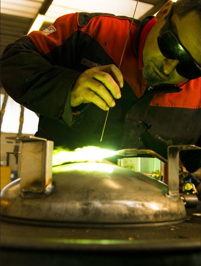 brasatura, azienda metalmeccanica, riscaldamento, condizionamento